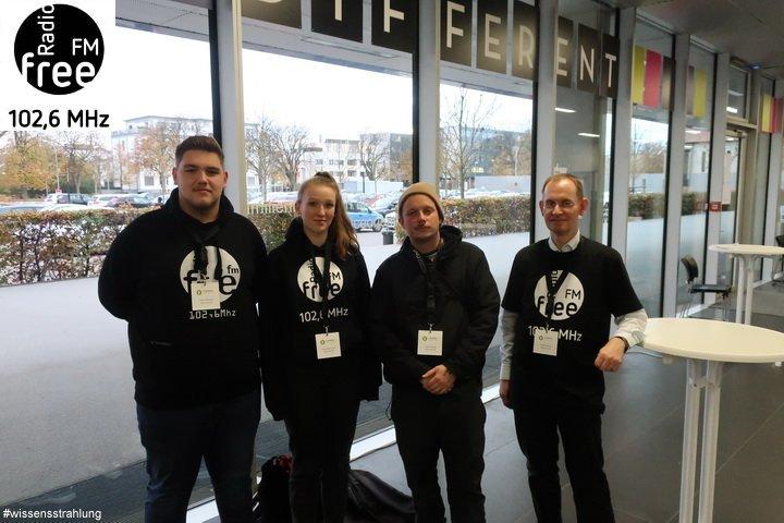 Das Team von Radio FreeFM in der Hochschule Neu-Ulm