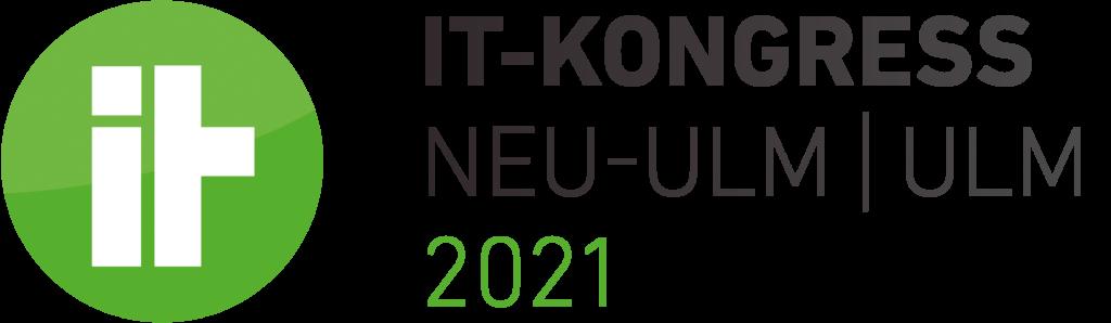 Rundes grün weißes Logo des IT-Kongress 2021 in Neu-Ulm und Ulm